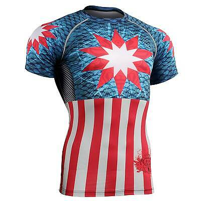 FIXGEAR CFS-37 Compression Base Layer Short Sleeve Shirts, Workout Fitness MMA