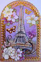 10 Punch Studio French Lavender Eiffel Tower Note Cards. Die Cut. Beautiful