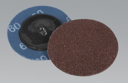 Sealey PTCQC5060 Quick Change Sanding Disc 50mm 60Grit Pack Of 10 Tool