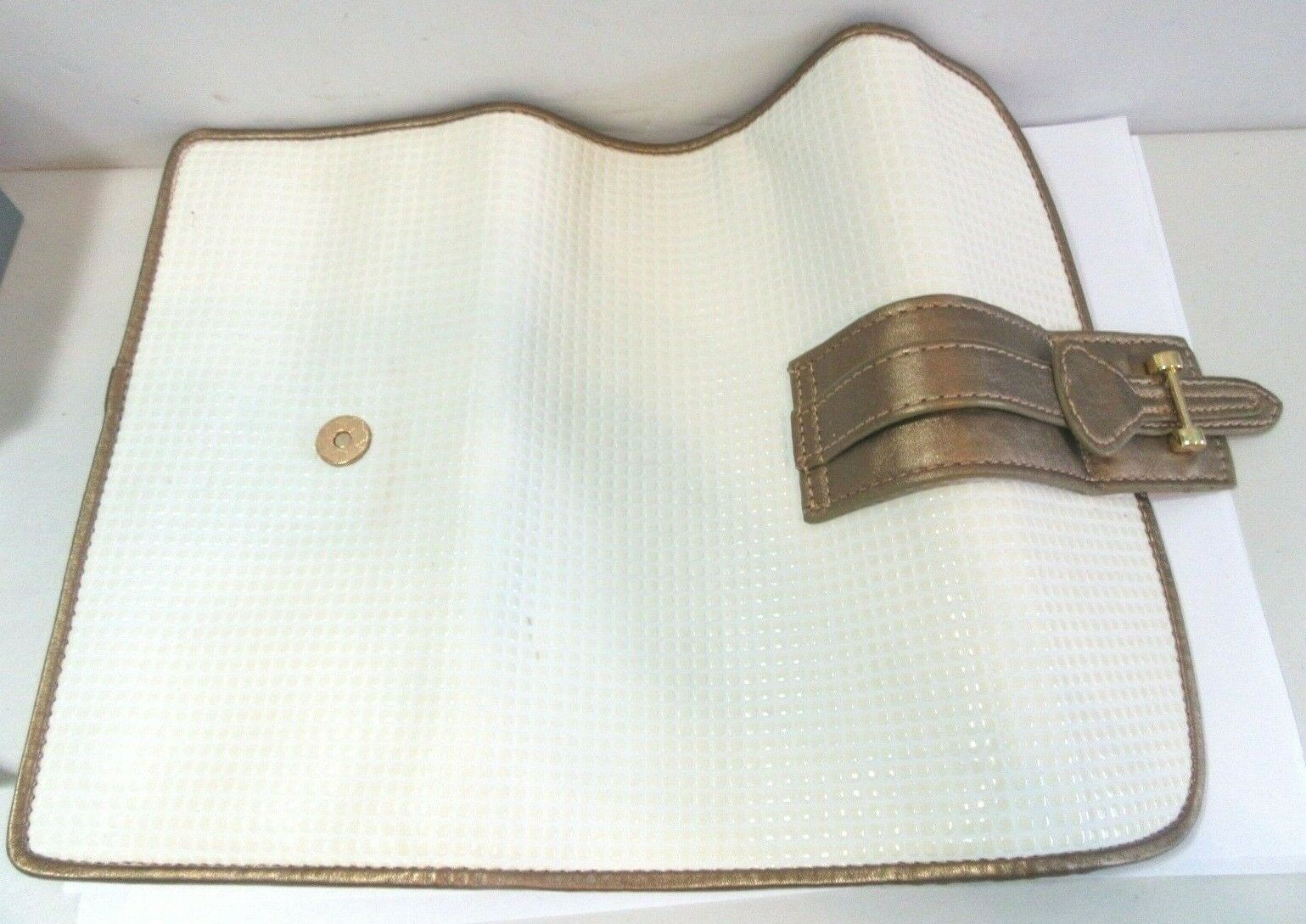 TUSCAN DESIGNS CLUTCH CARRY ALL PURSE BAG WHITE A… - image 7