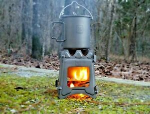 Titanium Ultralight Outdoor Camping Folding Wood Stove Backpack Travel Stove