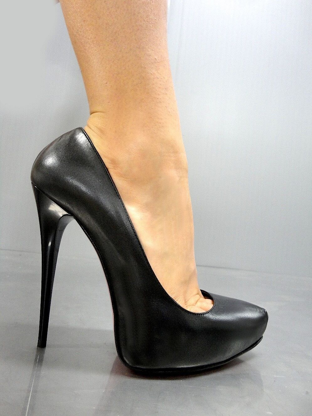 MORI ITALY PLATFORM HIGH HEELS PUMPS chaussures chaussures REAL REAL REAL LEATHER noir noir 40 76bc0d