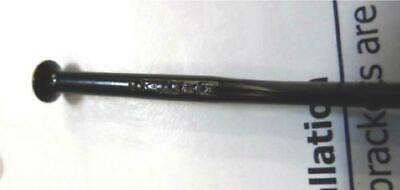 SAPIM x 6pcs CX 14G AERO STRAIGHT PULL Flat Bladed Spokes 270mm Black