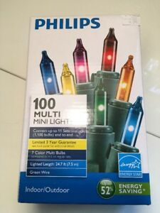 Phillips Christmas Lights.Details About Phillips Mini Multi Color Holiday Christmas Lights Energy Saving Pack Of 5