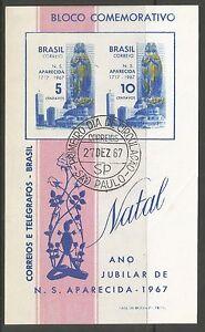 bresil-1967-Notre-Dame-de-Le-Apparition-MINIATURE-feuille-Sg-ms1188