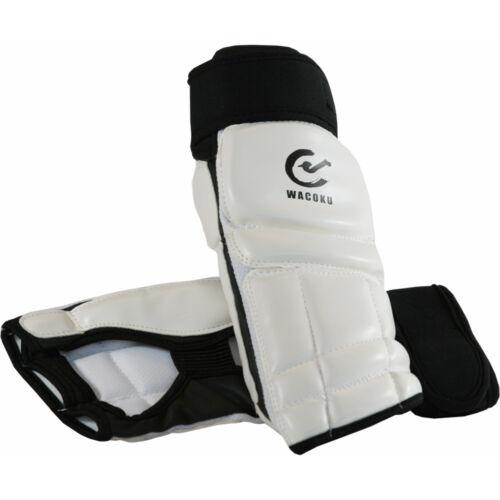 Wacoku WTF Taekwondo White Instep Foot Protectors Gurads Pads TKD Mitts Shoes