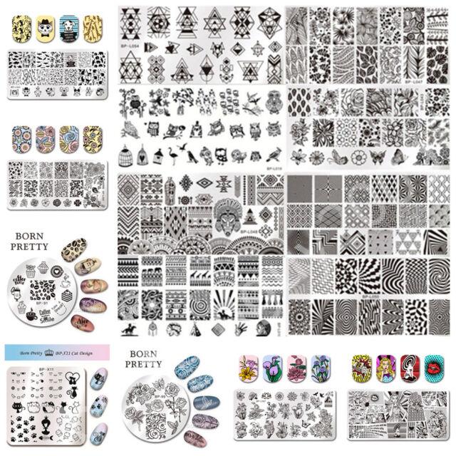 Nail Stamping Plates Nail Art Image Stencils Template Manicure BORN PRETTY DIY