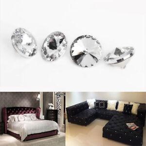 DIY Crystal Rhinestone Diamante Round Buttons Tufting Sofa ...