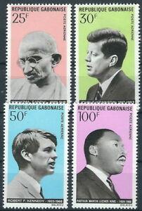 2019 Neuer Stil Gabun - Prominente Opfer Von Attentaten Satz Postfrisch 1969 Mi. 321-324