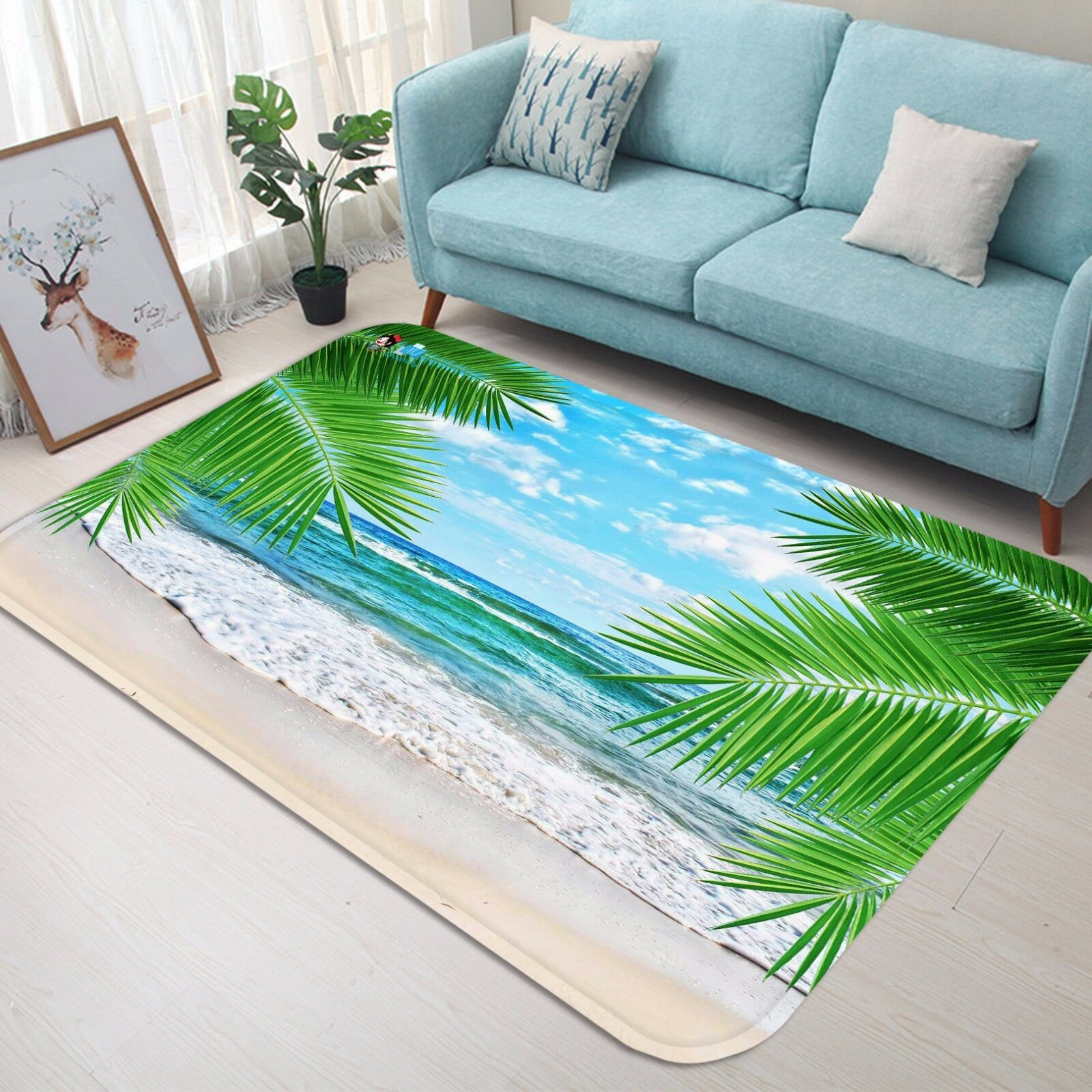 3D 3D 3D Beach Leaf 58 Non Slip Rug Mat Room Mat Quality Elegant Photo Carpet CA 5244b8