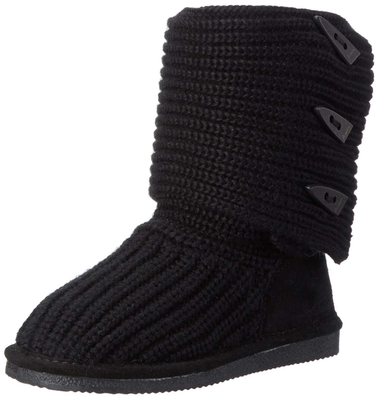 Bearpaw Knit Tall Negro 658W Para Mujer Tallas Us