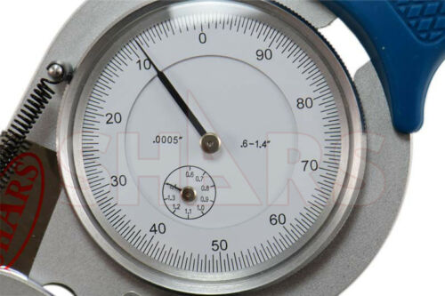"0.6-1.4/"" PRECISION INTERNAL DIAL CALIPER GAGE .0005/"""