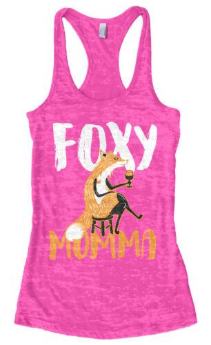 Foxy Momma Unisex Sweatshirt Funny Drinking Wine Mom