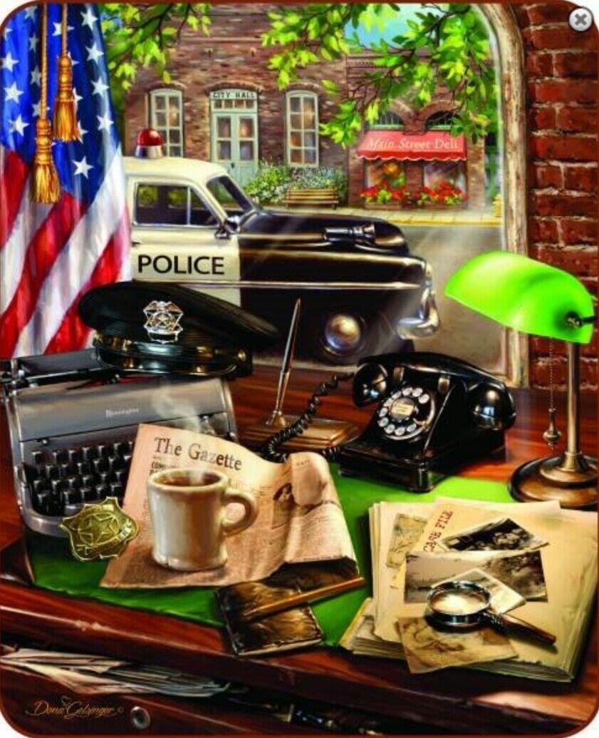 NEW Hometown Hero Police Station Faux Fur Blanket Queen 79  x 96