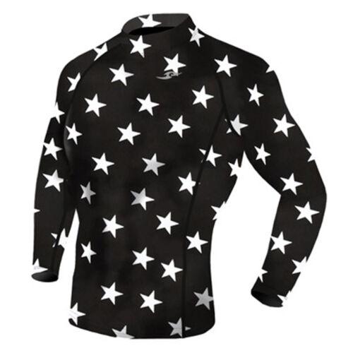 Take Five Mens Skin Tight Compression Base Layer Running Shirt S~2XL Star 069