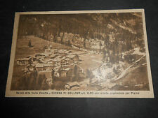 1932 CARTOLINA SALUTI ALTA VALLE VARALTA CHIESA BELLINO STRADA PLAINE' VIAGGIATA