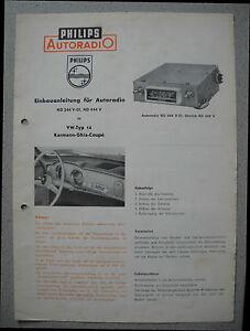 Philips-ND344V-01-ND444V-Autoradio-Einbauanleitung-in-Karmann-Ghia-Coupe