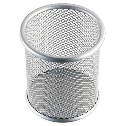 helit Stifteköcher Mesh H2518100 9x10cm rund 1Fach Metall silber