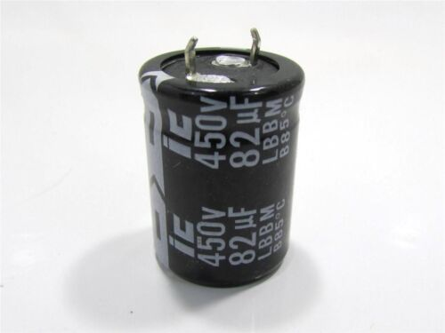 NEW ILLINOIS CAPACITOR 826LBB450M2BD SNAP-IN CAPACITOR 82UF 450V 20/%