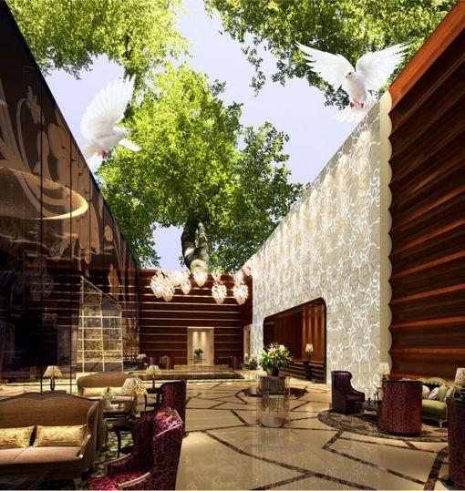 3D Lush Trees 10 Ceiling WallPaper Murals Wall Print Decal Deco AJ WALLPAPER GB