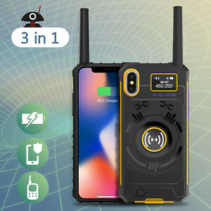 Radioddity-3-in-1-UHF-Two-way-Radio-Rechargeable-Battery-Phone-Case-for-iPhone-X