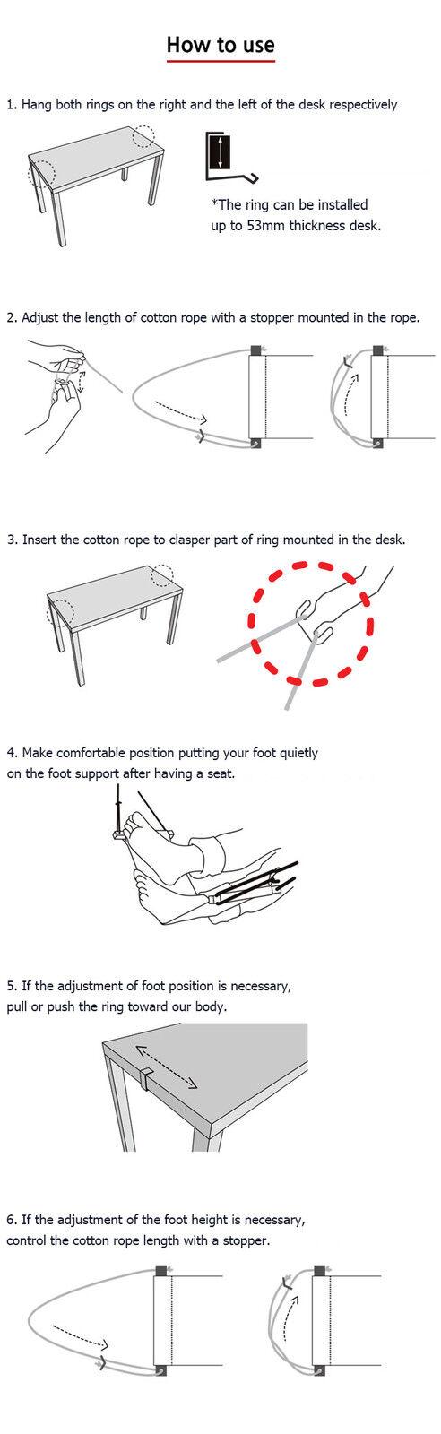 FUUT Desk Desk Desk Foot Hammock For comfort your Feet Small Mini office foot Rest Stand abb947
