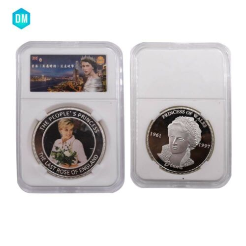 Business Souvenir Gifts UK Coin Decorative 999 Silver Plated Diana Metal Coin