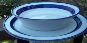 NORITAKE-FJORD-round-serving-bowl-and-dinner-plate