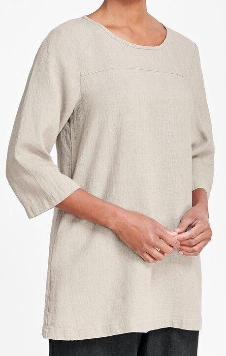 FLAX Designs LINEN  Top Seam Tunic Shirt   1G  &  2G & 3G  NWT  2018 NATURAL
