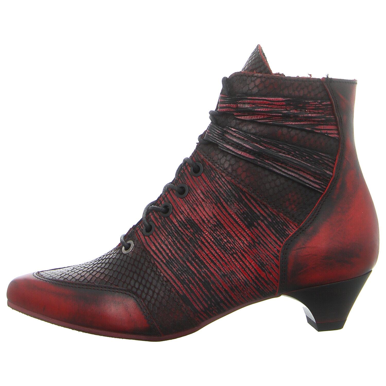 SIMEN Schuhe Stiefelette 538A WEINROT (rot) NEU