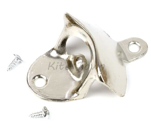 10 pcs Stainless Steel silver Wall Mount Beer soda Bottle Opener with Screws US