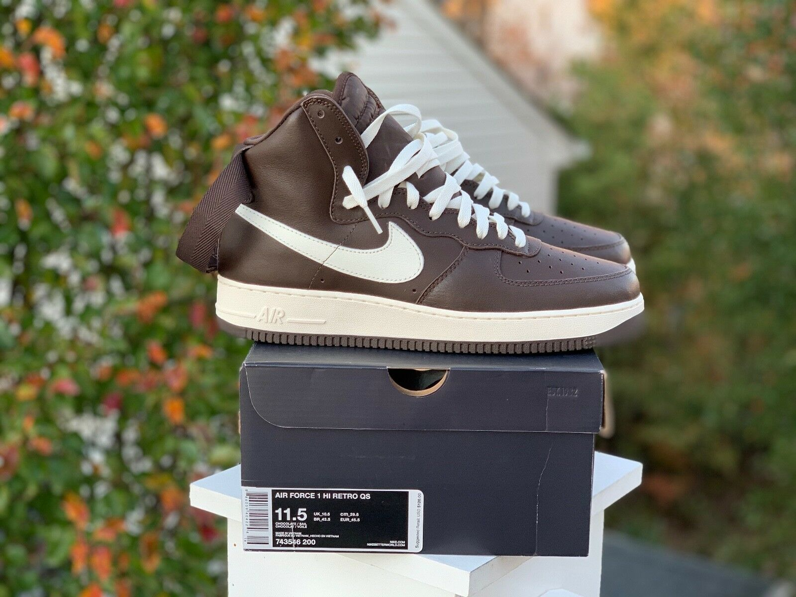 Nike Air Force 1 One AF1 High Chocolate Brown size 11.5 New