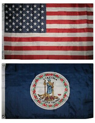 Wholesale Combo Lot 3x5 USA Flag /& State of  West Virginia  2x3 2 Flags Banner