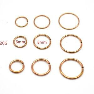 20g-Annealed-Rose-Gold-Steel-Seamless-Nose-Hoop-Tragus-Segment-Look-Ear-Ring