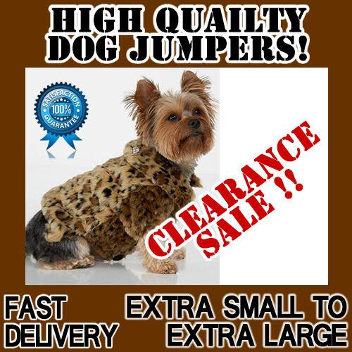 SALE Leopard Dog jumper jacket coat winter warm fleece thick deluxe quality