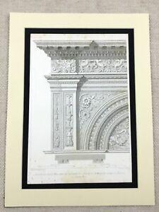 1857-Architectural-Engraving-Print-Ornamental-Stone-Masonry-Verona-Italy