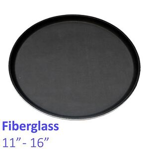 Non-slip Round Fibreglass Tray Bar Pub Café Waiter Serving Drinks Food Platter Trays Home & Garden