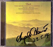 Angela HEWITT Signed BACH Keyboard Concerto BWV 1044 1052 1058 1050 TOGNETTI CD