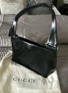 Image Is Loading Gorgeous Vintage Gucci Black Patent Leather Handbag With