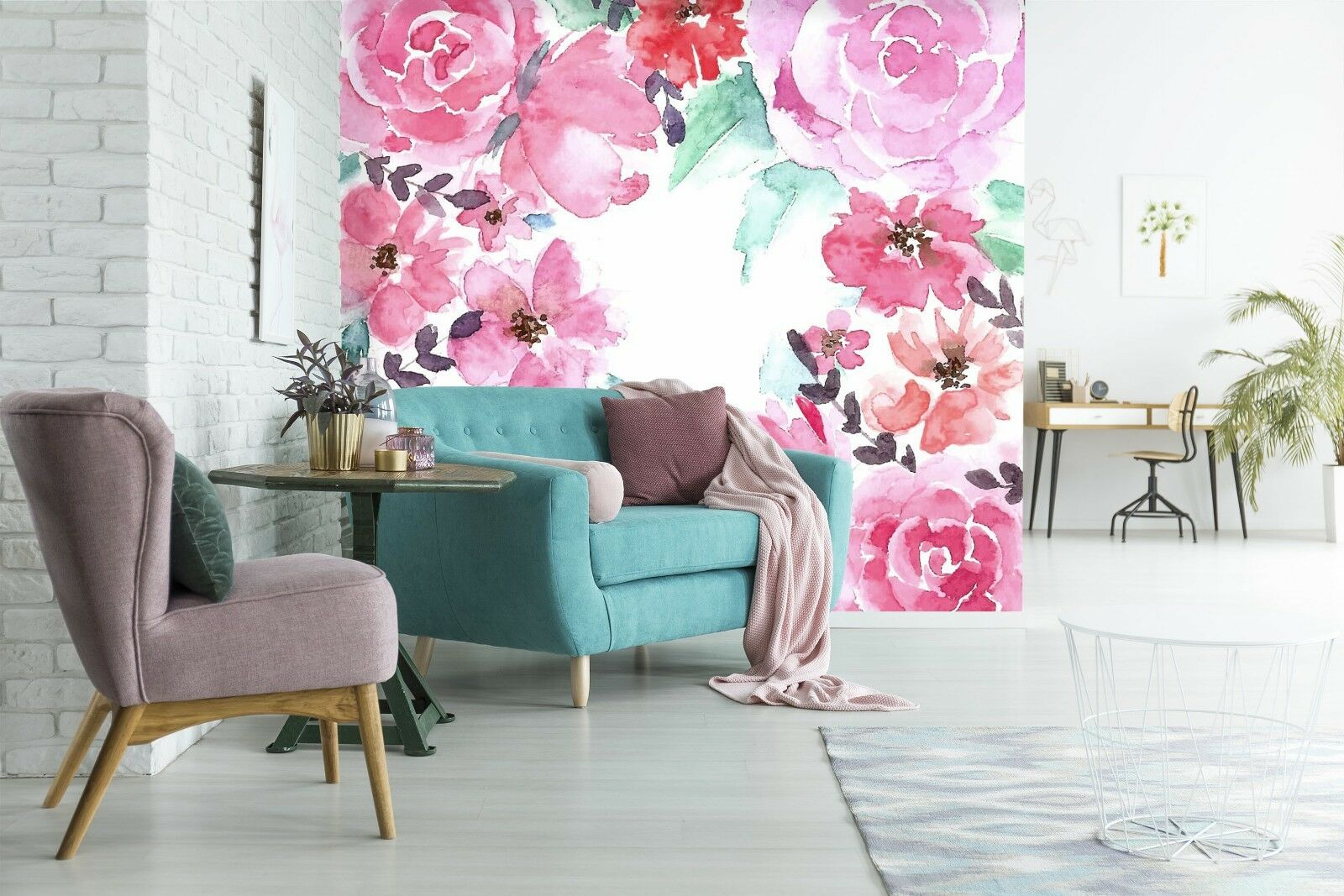 3D ROT Flower  781 Wall Paper Print Wall Decal Deco Indoor Wall Murals US Summer