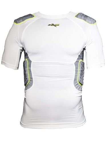 READ Foootball  Amp 5-Pad Compression Shirt White Adult Men/'s Riddell Power NWT