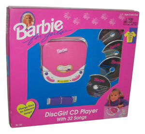 Barbie-DiscGirl-CD-Player-with-32-Songs-1995-Mattel-Vintage-Toy