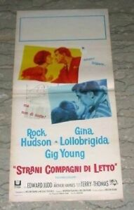 Strani Compagni Di Letto.Dettagli Su Strani Compagni Di Letto Strange Bedfellows G Lollobrigida Locandina Poster
