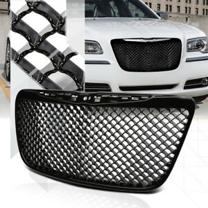 Glossy-Black-ABS-3D-Wave-Mesh-Bumper-Grille-Grill-for-11-14-Chrysler-300-300C