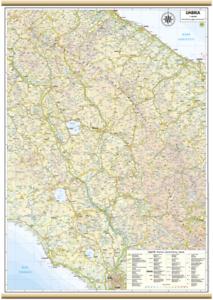 UMBRIA CARTA REGIONALE MURALE 61X88 CM [MAPPA/CARTINA/POSTER] BELLETTI