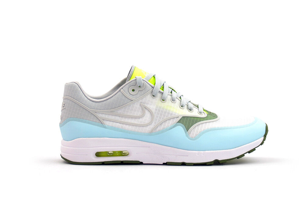 Nike Women's Air Max 1 Ultra 2.0 Si Shoes White Blue Green Volt Platinum sz 7.5