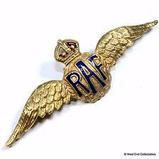 1930s WW2 Royal Air Force RAF Wings Gilt & Enamel Sweetheart Brooch Badge #A060