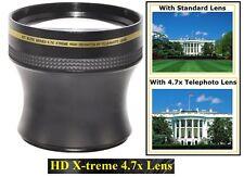 4.7x X-treme HD Tele Lens for Panasonic HDC-SD800 HDC-SDT750 HDC-TM700 HDC-HS700
