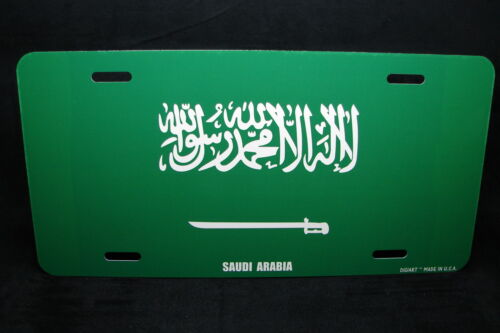 SAUDI ARABIA FLAG METAL NOVELTY LICENSE PLATE TAG FOR CARS