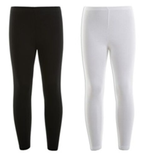 A3 Minx noir blanc long leggings âge 2 3 4 5 6 7 8 9 10 11 12 13 ans